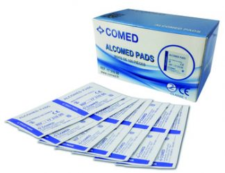 Illustration Tampons d'alcool 70% Alcomed Pads
